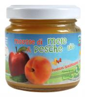 Mousse biologica mele e pesche biologica
